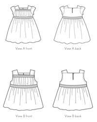 garden party dress + blouse sewing pattern
