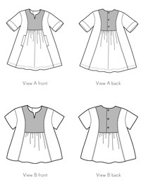 digital hide-and-seek dress + tunic sewing pattern
