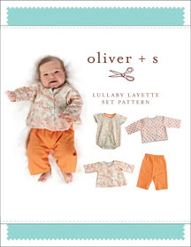 lullaby layette set sewing pattern