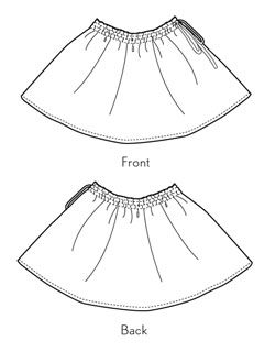 digital swingset skirt sewing pattern