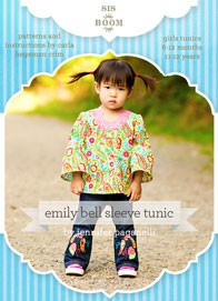 digital emily bell sleeve tunic sewing pattern