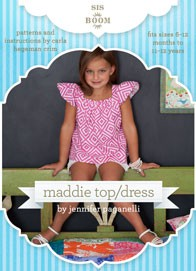 digital maddie top/dress sewing pattern