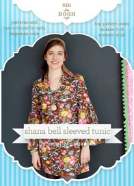 digital shana bell sleeved tunic sewing pattern