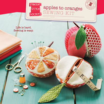 apples to oranges sewing kit sewing pattern