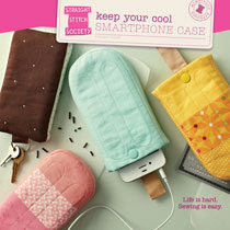 digital keep your cool smartphone case sewing pattern