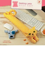 digital desktop pets wrist rest sewing pattern