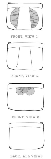 in a clutch cosmetic case sewing pattern